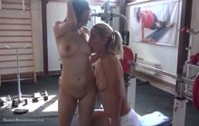 Gym babes Harriet and Christen in love