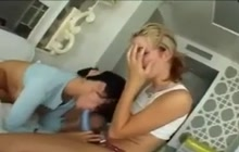 Lesbian fun with my preggo chick