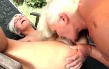 Sexy blonde and mature woman getting naughty