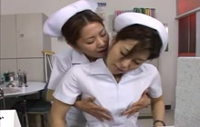 Japanese Nurses Kissing